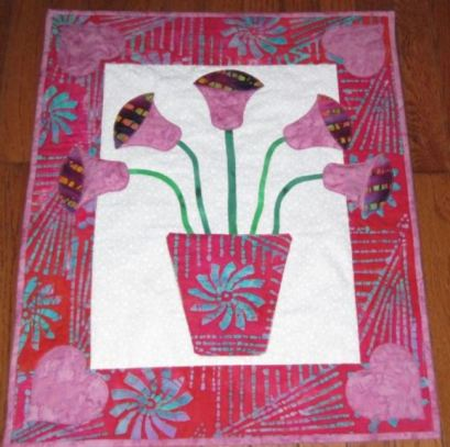 tulips wall hanging by barbara gaddy of bejeweled quilts
