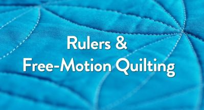 rulers and free motion quilting