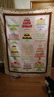Free Pattern Friday Birthday Cake Quilt Block QuiltShopGal