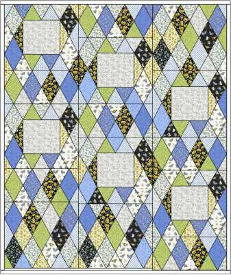 quilt layout 60 degree diamond