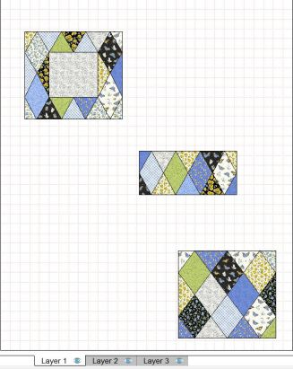 layer 1 of your quilt top