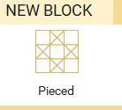 NEW Block pieced