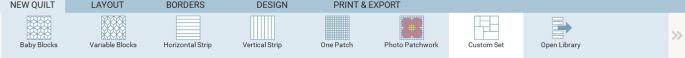 new quilt custom set