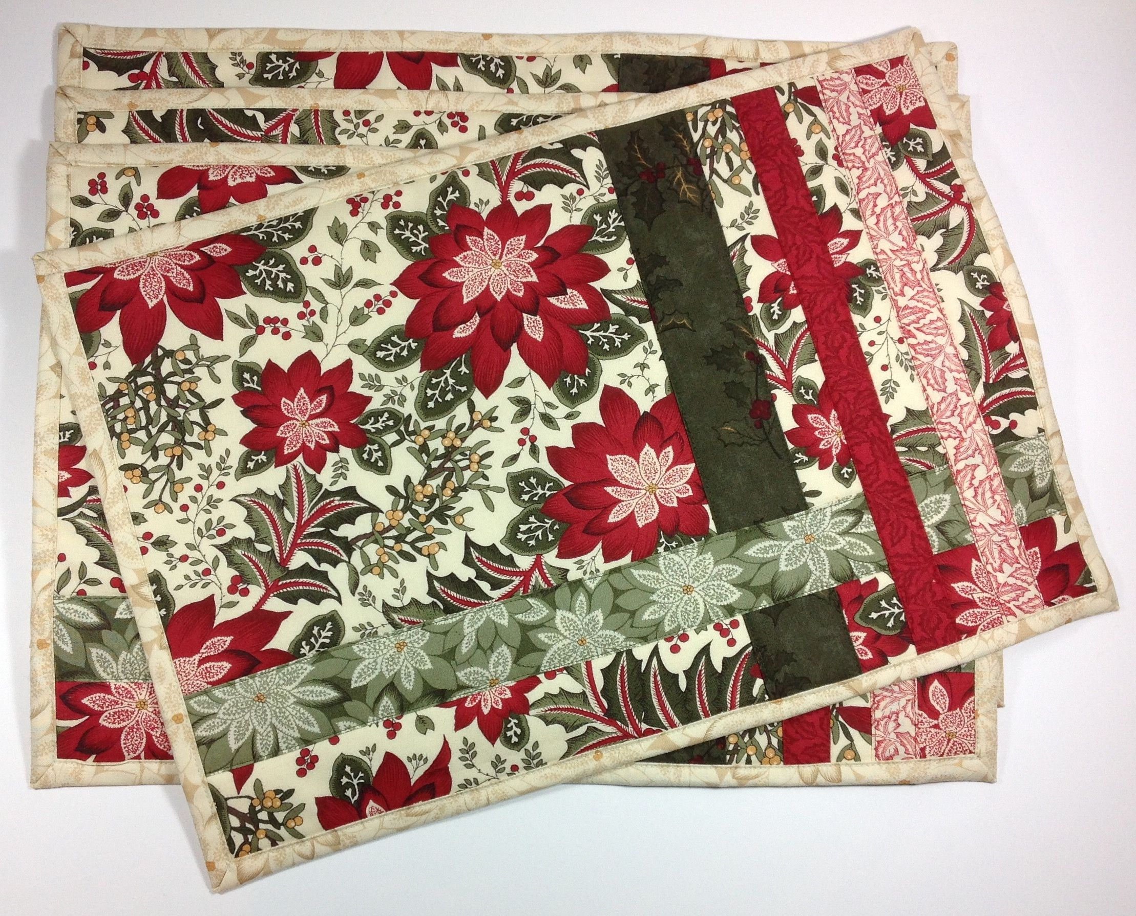 A Handmade Christmas Gift Ideas 12 Of 12 Tablerunners Placemats Quiltshopgal