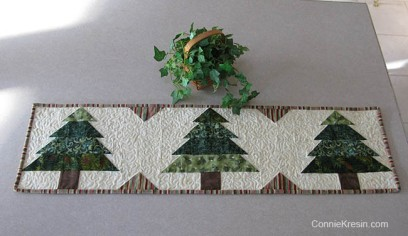 Christmas-Trees-tablerunner-tutorial-quilted