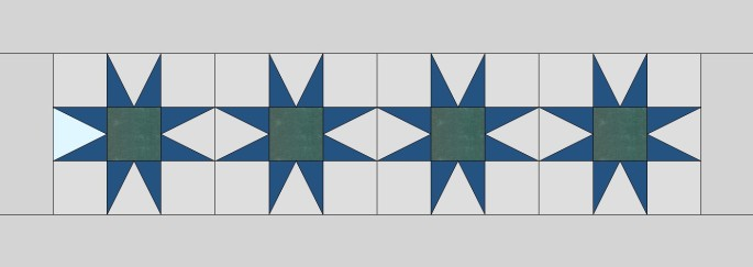 simple EQ8 design for a star table runner