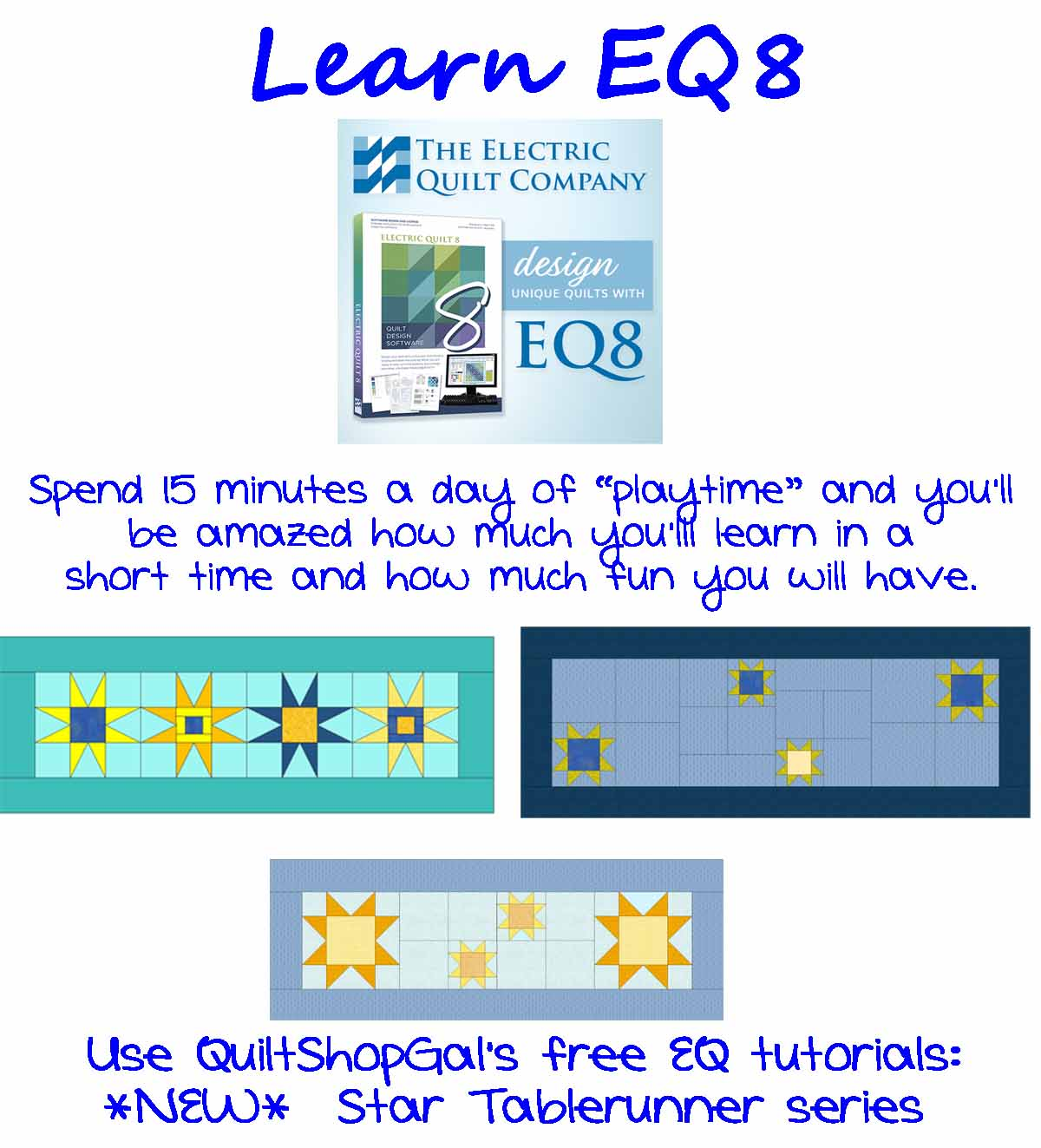 Playing With Stars In Eq8 A Tutorial Part 7 Quiltshopgal