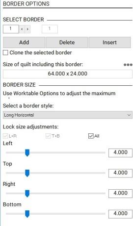 borders setting