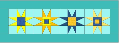 colored table runner #2
