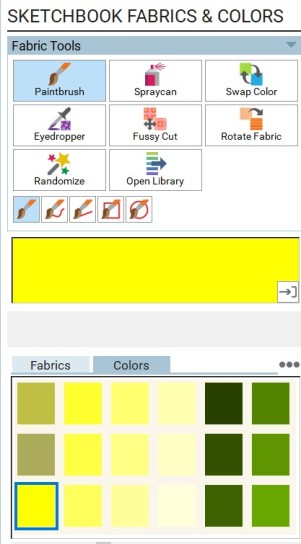 sketch fabric colors