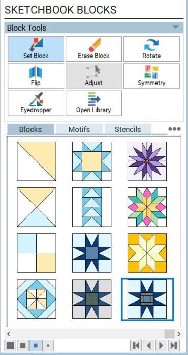 sketchbook blocks tool