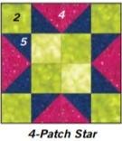4 patch star