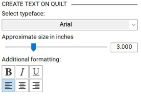 font and format
