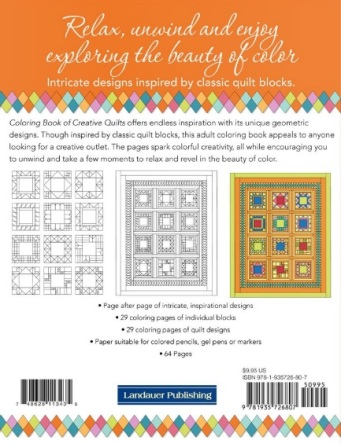 Coloring Book Of Creative Quilts And Coloring Book Of Quilt Blocks Designs Quiltshopgal