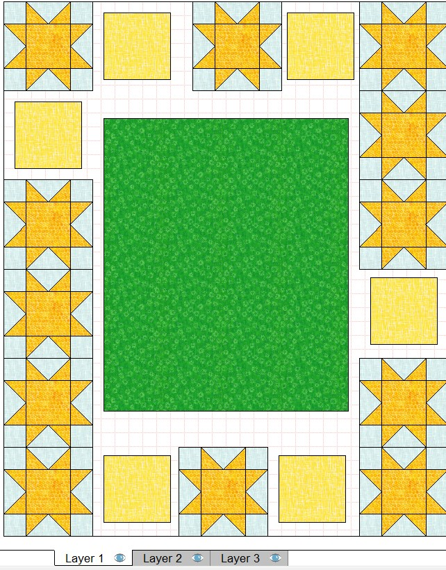 quilt layout 8 inch blocks approximate placement step 2