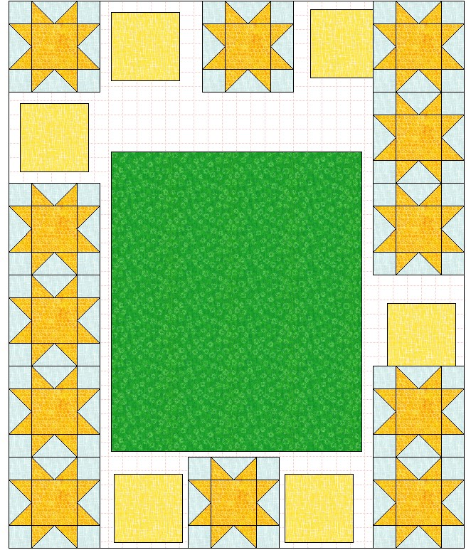 quilt layout 8 inch blocks approximate placement