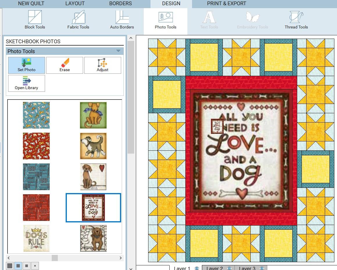 quilt layout set images step 1